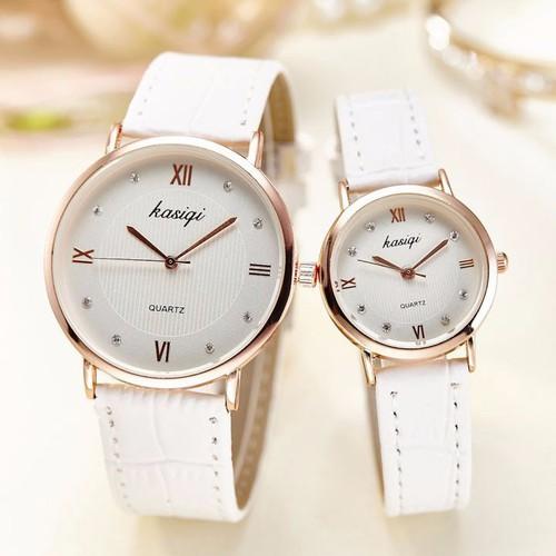 Đồng hồ đôi Kasiqi dây da cao cấp SP668