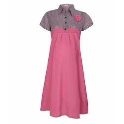Đầm bầu phối sọc dễ thương 103 màu hồng