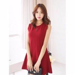 Đầm đỏ suông giọt nước