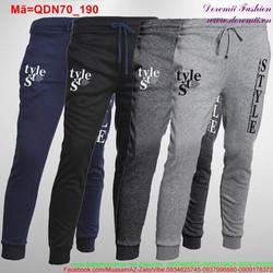 Quần thun nam dài thắt dây Style trẻ trung QDN70