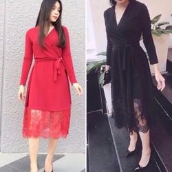 đầm dạ hội đắp chéo phối ren cực xinh Hani Dress