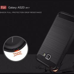 Ốp lưng Galaxy A5 2017 Viseaon Rugged Armor nhựa mềm + Dán lưng Carbon