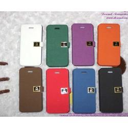 Bao da iphone 5 gập ngang chữ D sành điệu OP106