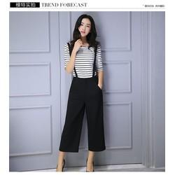 Sét quần thắt đai và áo thun sọc GS139