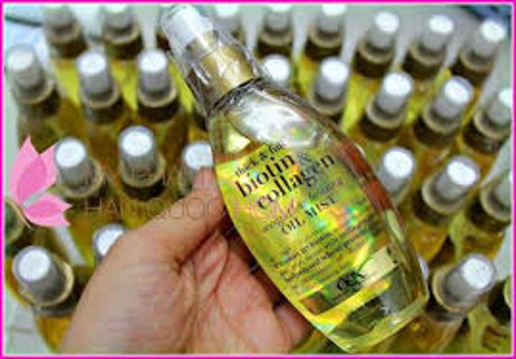 Xịt dưỡng tóc Biotin Collagen OGX Weightless Healing Oil Mist 3