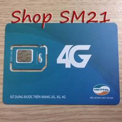 Sim 4G Viettel dùng miễn phí 1 năm tốc độ cao 60GB