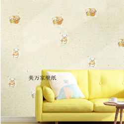 Decal giấy dán tường đôi bạn gấu