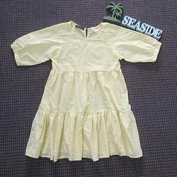 Đầm baby doll hoa nhí vàng