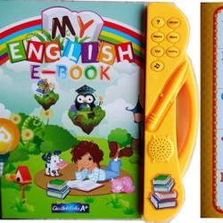 Sách điện tử chấm đọc tiếng Anh 8 trang cho bé. 25x23cm. v327