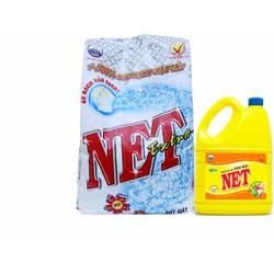 Bột Giặt Net Extra 6kg Khuyến mãi Nước rửa chén đậm đặc 1,5kg