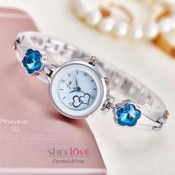 Đồng hồ NỮ lắc tay thời trang sành điệu WH-8218 màu trắng