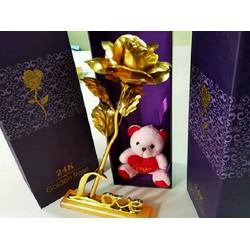 Hoa Mạ Vàng 24K