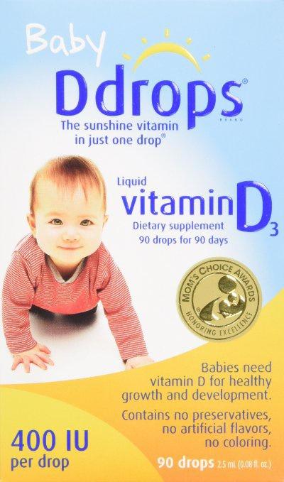 Baby Drops Vitamin D3 cho trẻ sơ sinh 90 giọt của Mỹ