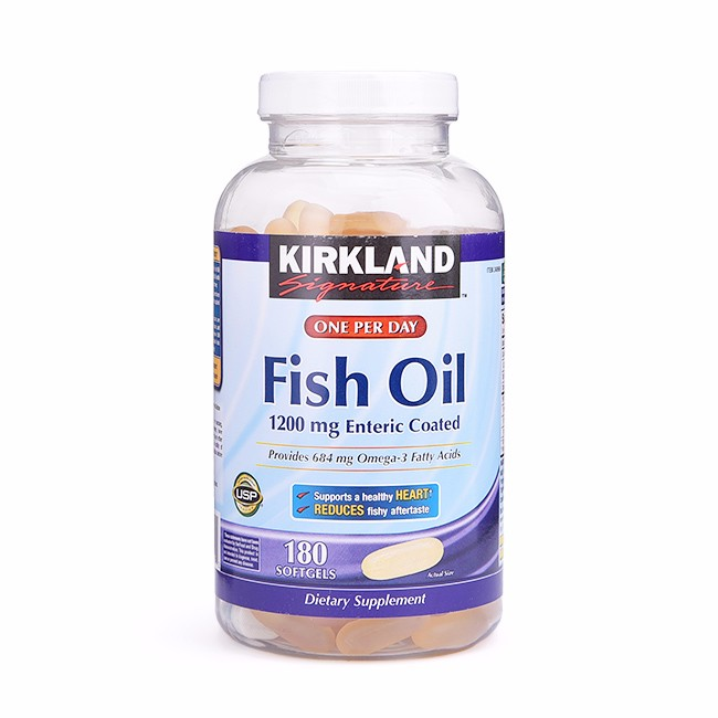 D u c kirkland signaturee fish oil 1200mg enteric coated for Enteric coated fish oil