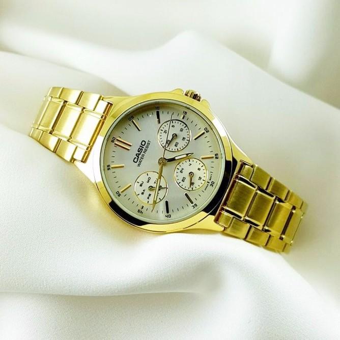 Đồng hồ nữ Casio chính hãng chạy cả 6 kim V300G 7