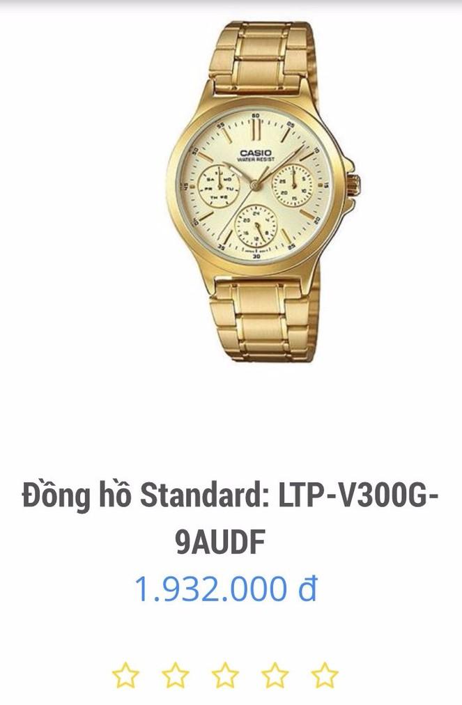 Đồng hồ nữ Casio chính hãng chạy cả 6 kim V300G 5