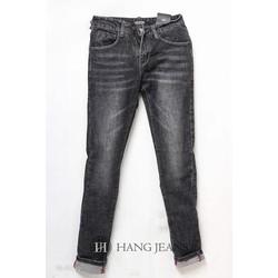 Quần jeans nam ống côn, xám mài nhẹ 16-A199