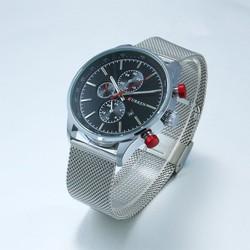 Đồng hồ nam day thép CURREN CR016 Mặt Đen