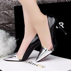 Giày cao gót thời trang cao cấp phối trong suốt