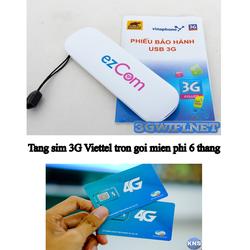 COMBO USB 3G Dùng Đa Mạng+Tặng sim 3G Viettel trọn gói 6 tháng