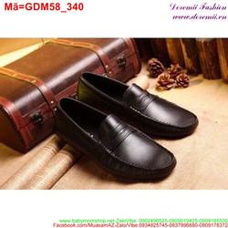 Giày mọi da nam thắt nơ da mềm bền phong cách sang trọng GDM58