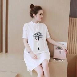 Đầm suông in cây