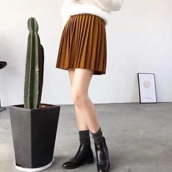 chân váy sếp li ngắn đẹp hót