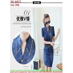 Đầm jean form ôm giành cho nàng công sở xinh đẹp DJE72