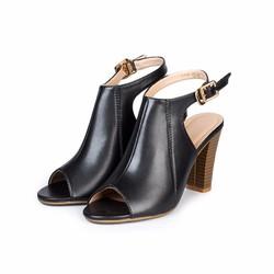 Giày cao gót nữ quai hậu hở mũi cao 9cm Hùng Cường HC1301