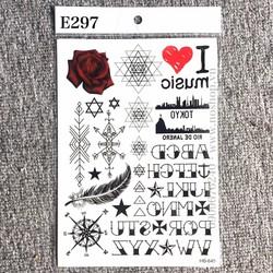 Xăm Dán Tattoo Chữ E297
