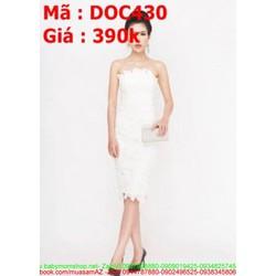 Đầm ôm dự tiệc cúp ngực ren trắng sành điệu trẻ trung DOV430