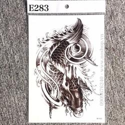 Hình Xăm Dán Tattoo Cá Chép E283