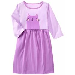 Đầm ngủ dài tay thun mèo tím hiệu Gymboree cho bé gái 2-8 tuổi