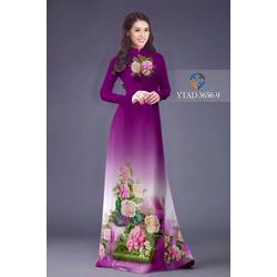 Áo dài hoa hồng ý tưởng 3656