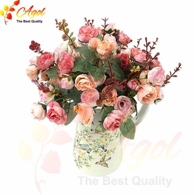Bó 21 hoa hồng lụa giả 1