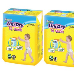Combo 2 gói Tã quần Unidry XL48 thiên thần trên 13kg, 48 miếng1 gói