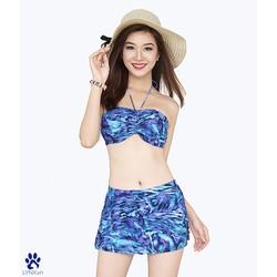 Bikini phối váy xẻ tà thời trang 22005S M