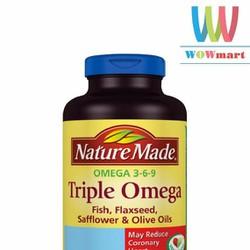 Viên uống bổ sung Omega Nature Made Triple Omega 180 viên