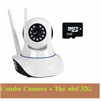 Combo camera IP wifi + thẻ nhớ 32G  giá rẻ