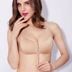 Áo dán ngực tạo khe suối sâu loại 1 dây rút