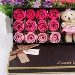 Hộp quà tặng hoa gấu bông