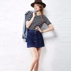 Chân váy Jean chữ A