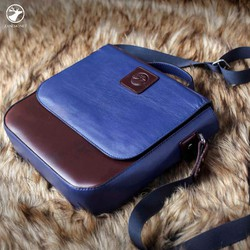 COUPLE MENS LEATHER BAG - túi đeo chéo nam da thật Zanemo