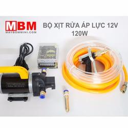Bộ rửa xe mini 12V 120W Súng áp lực