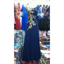 Đầm dạ hội họa tiết sang trọng HC103