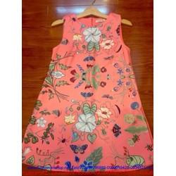 Đầm suông sát nách họa tiết hoa loang rất đẹp cho bạn gái DSV42
