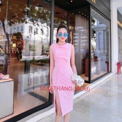 [Sale] Đầm thời trang nữ xẻ tà chất cát hàn