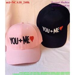 Nón cặp tình nhân YOU ME quà tặng yêu thương NCA18