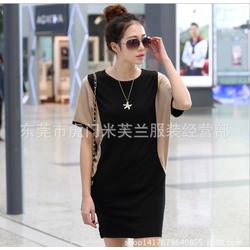 Đầm Suông Tay Cánh Rơi Phối 2 Màu LA Fashion