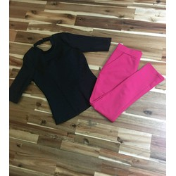 Set quần dài áo thun tay con sành điệu HN02